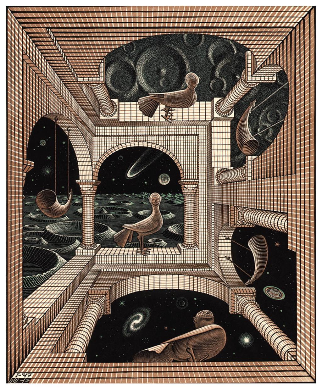 M.C. Escher - Other World 1947