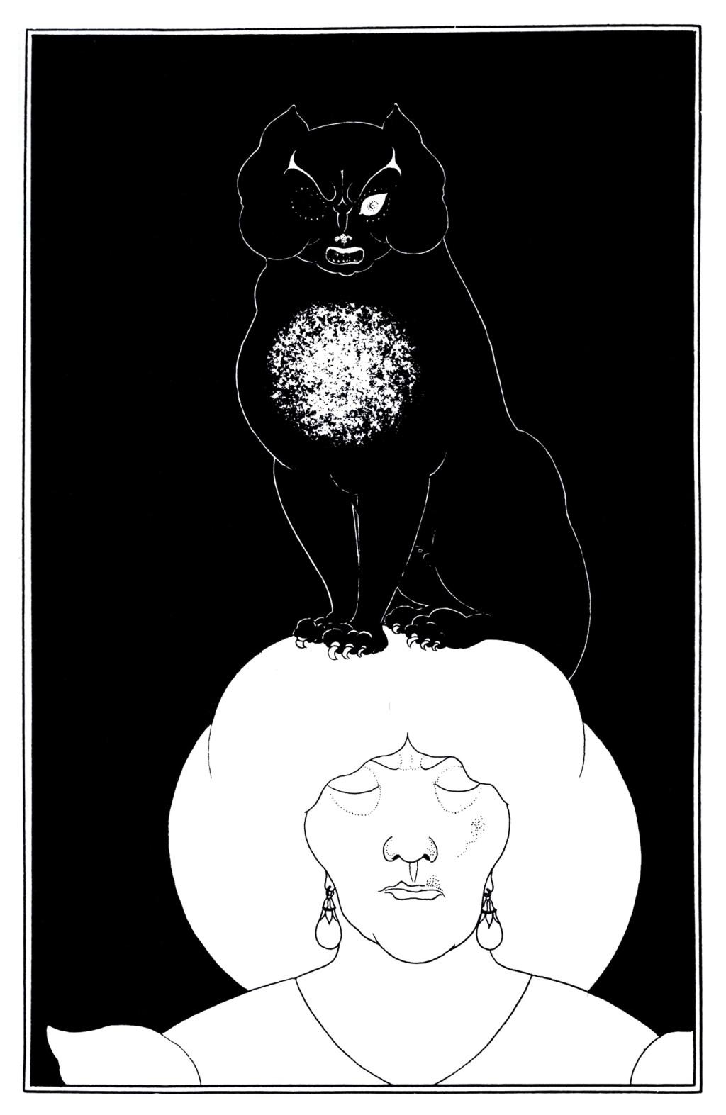 Aubrey Beardsley - Edgar Allan Poe 01, Black Cat (1894)