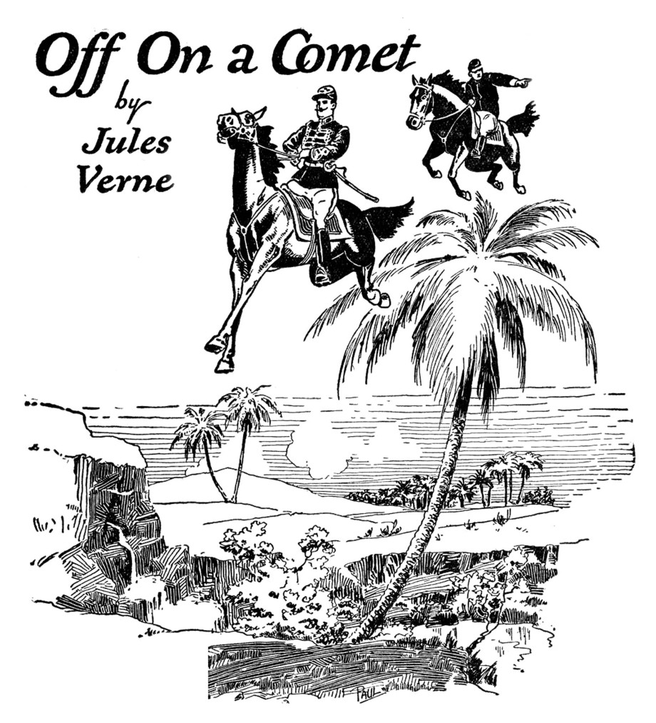 Amazing Stories 01 - April 1926 - Pag 04 - F.R.Paul - Off On a Comet