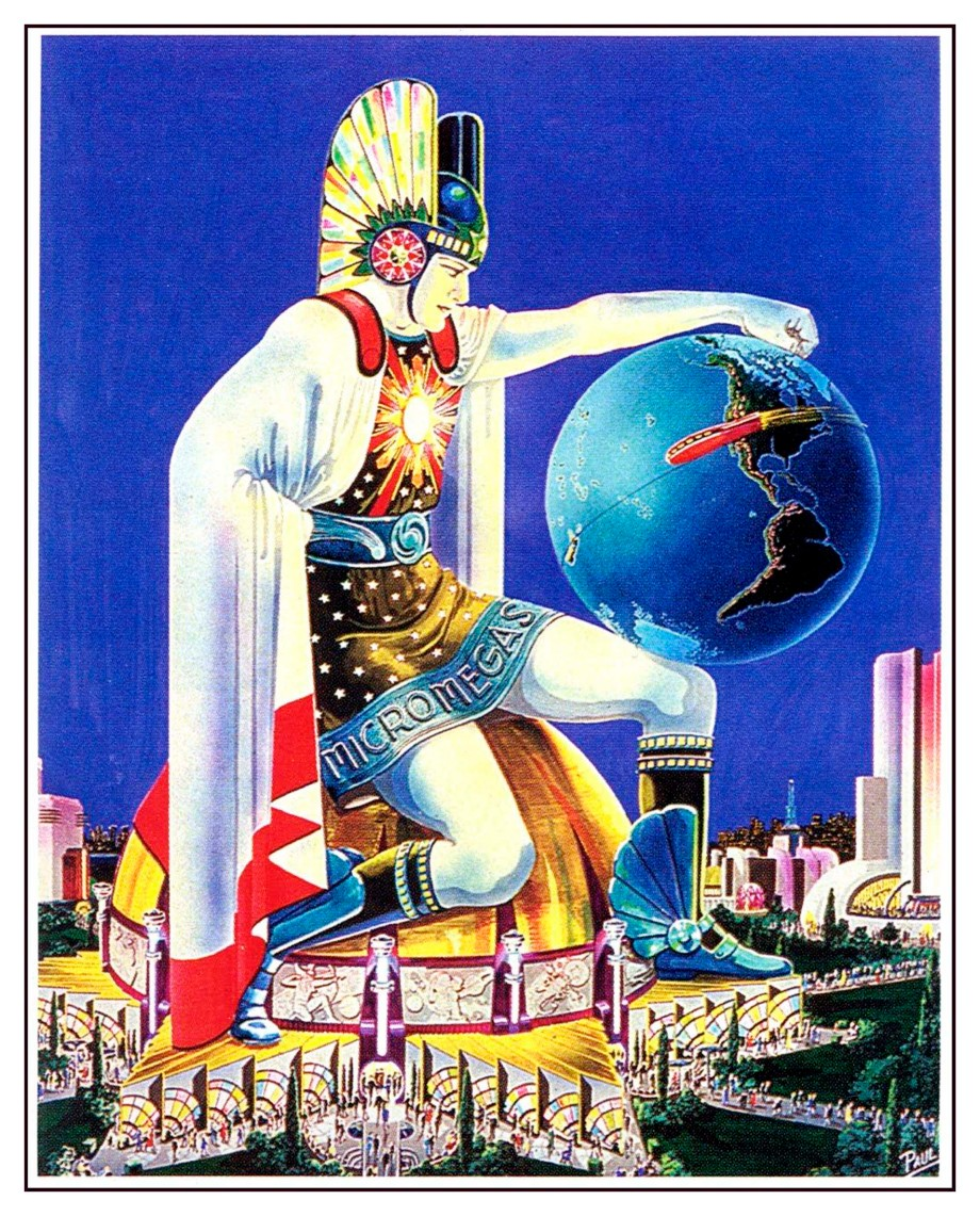 Ilustración 07 - Worlds Fair Painting - 1939 - Frank R Paul